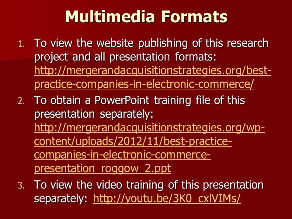 Multimedia Formats 1.