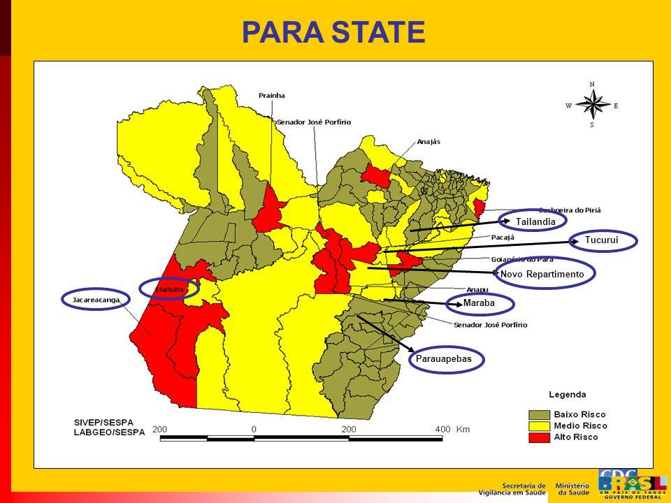 PARA STATE Parauapebas Maraba Novo Repartimento Tucurui Tailandia