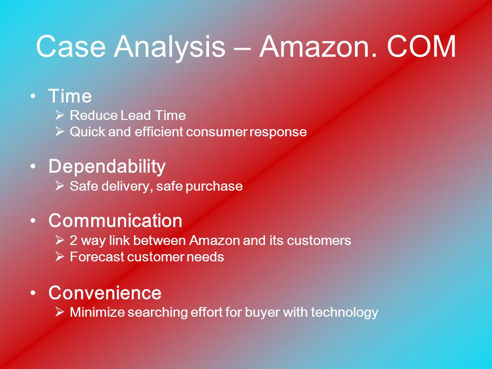 Case Analysis – Amazon.