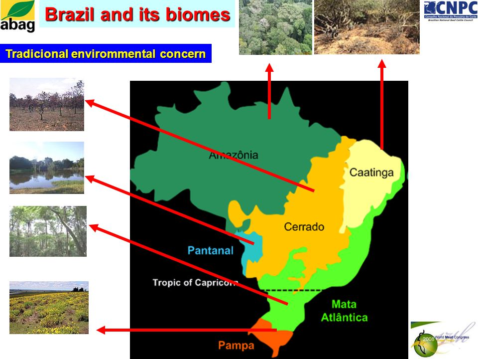Brazil and its biomes Tradicional envirommental concern