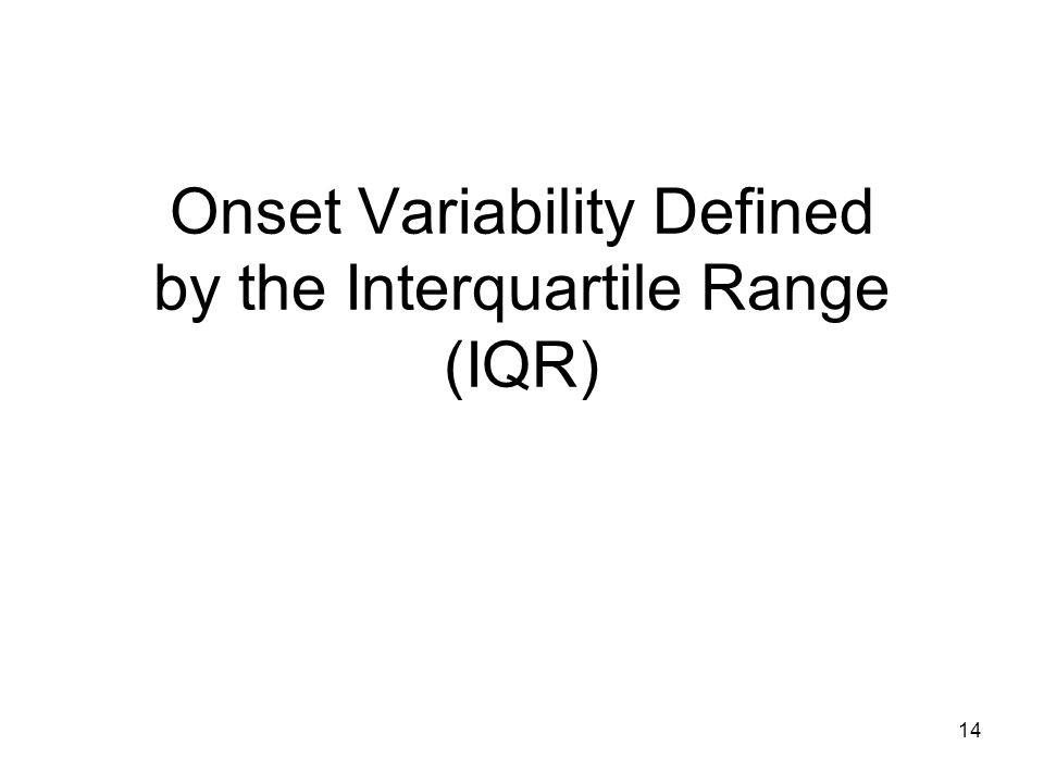 14 Onset Variability Defined by the Interquartile Range (IQR)