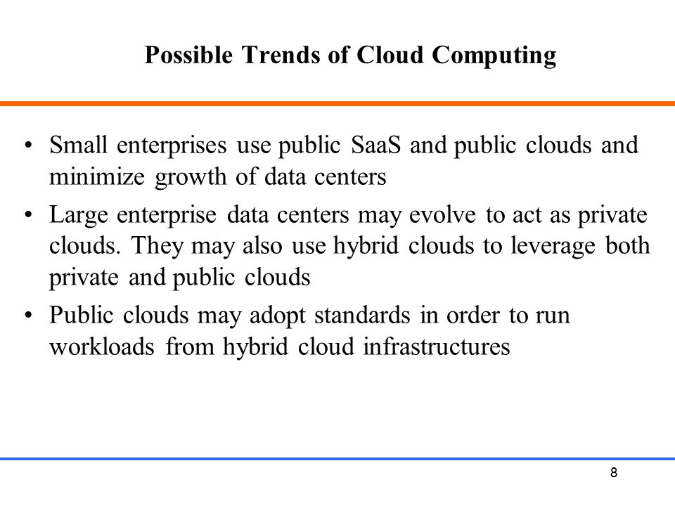 9 Core objectives of Cloud Computing Core objectives and principles of cloud computing: Security Scalability Availability Performance Cost-effective On-demand acquire / release resources Pay for what you use Leverage others' core competencies Turn fixed cost into variable cost