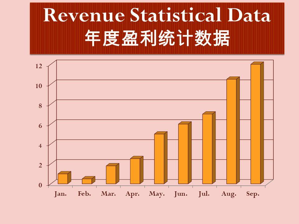 Revenue Statistical Data 年度盈利统计数据