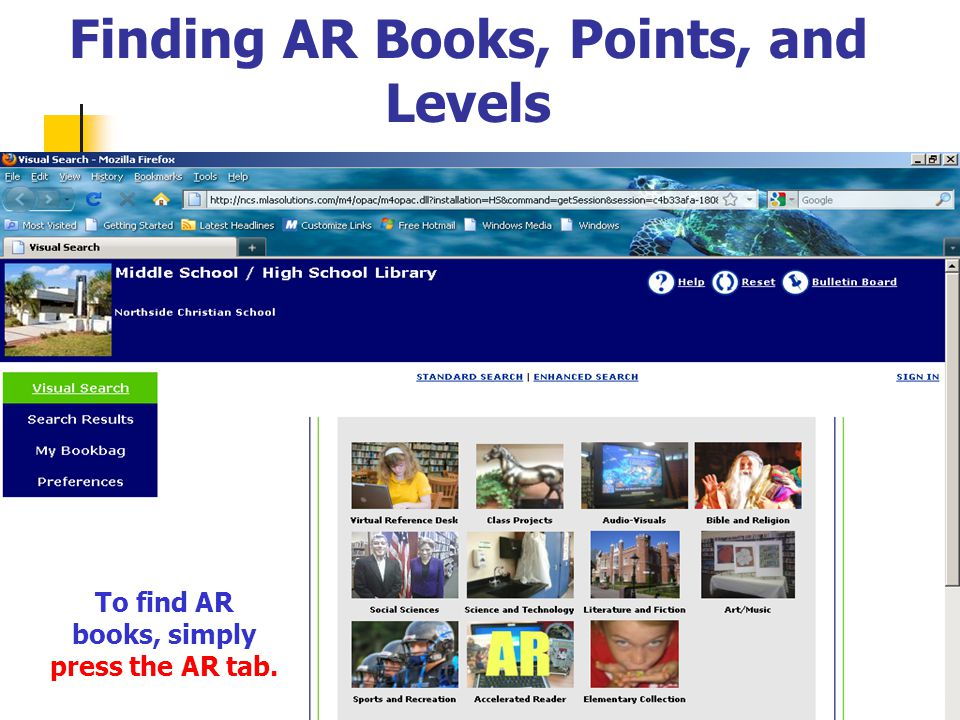 Finding AR Books, Points, and Levels The AR levels are not necessarily the student's grade level.