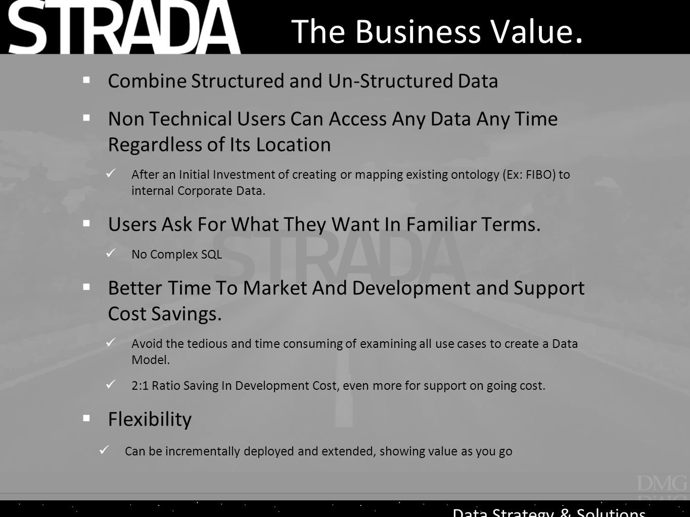 Data Strategy & Solutions The Business Value.