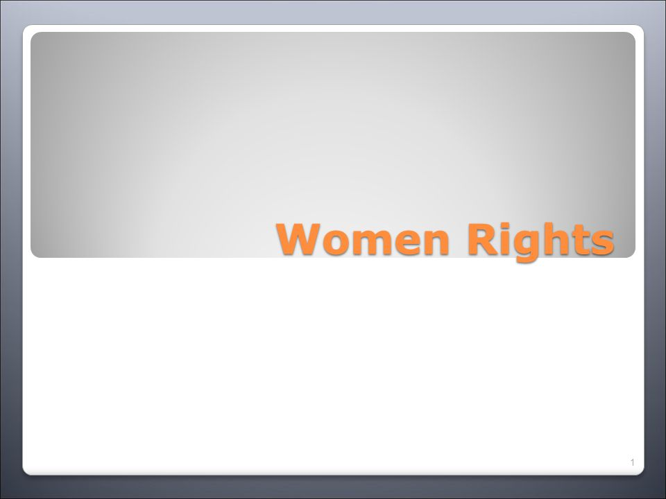 Women Rights 1
