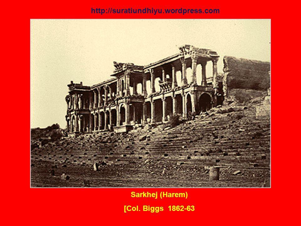 Sarkhej (Harem) [Col. Biggs 1862-63 http://suratiundhiyu.wordpress.com