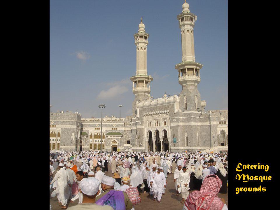 Crowds of the faithful outside Al Haram during the Hajj