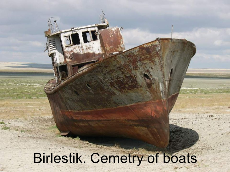 Birlestik. Cemetry of boats