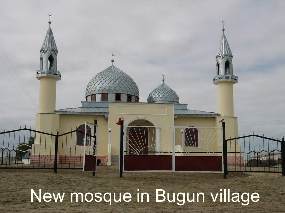 New mosque in Bugun village