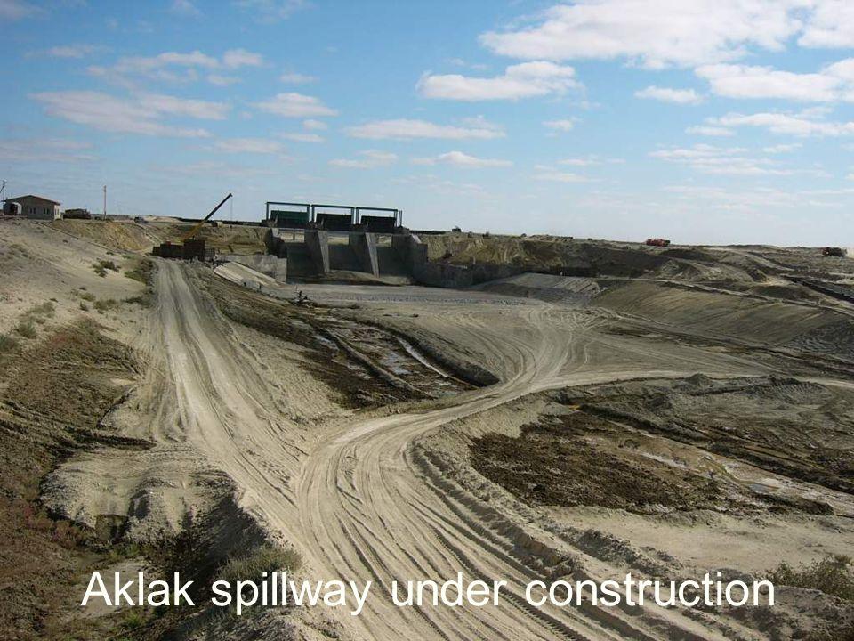Aklak spillway under construction
