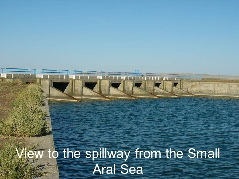 View to the spillway from the Small Aral Sea