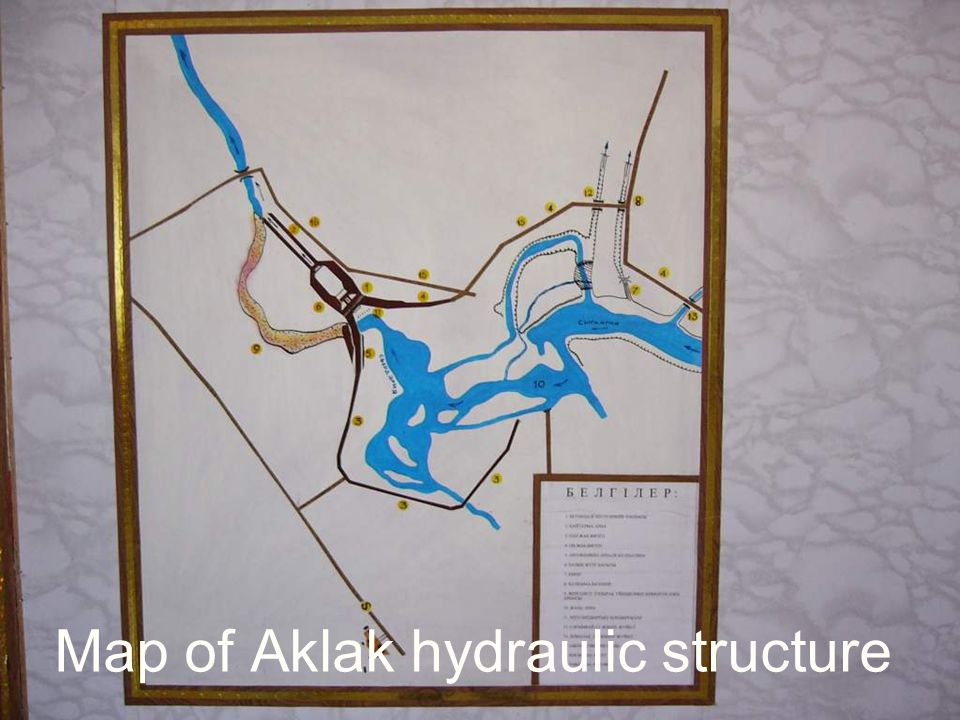 Map of Aklak hydraulic structure