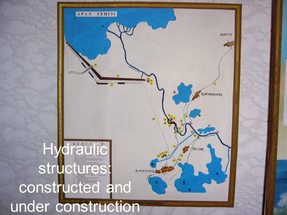 Hydraulic structures: constructed and under construction
