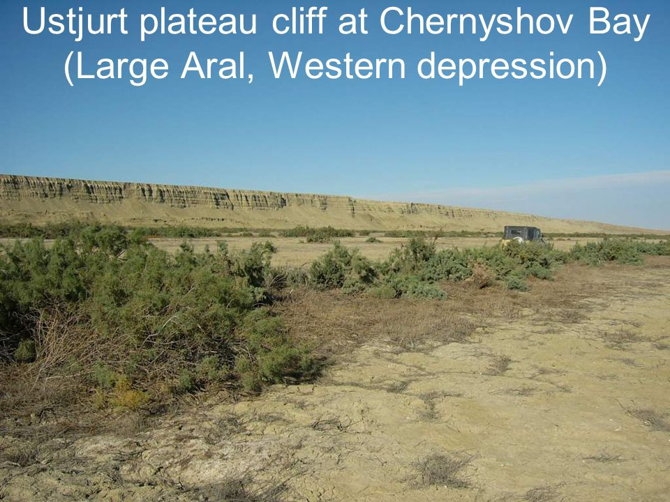 Ustjurt plateau cliff at Chernyshov Bay (Large Aral, Western depression)