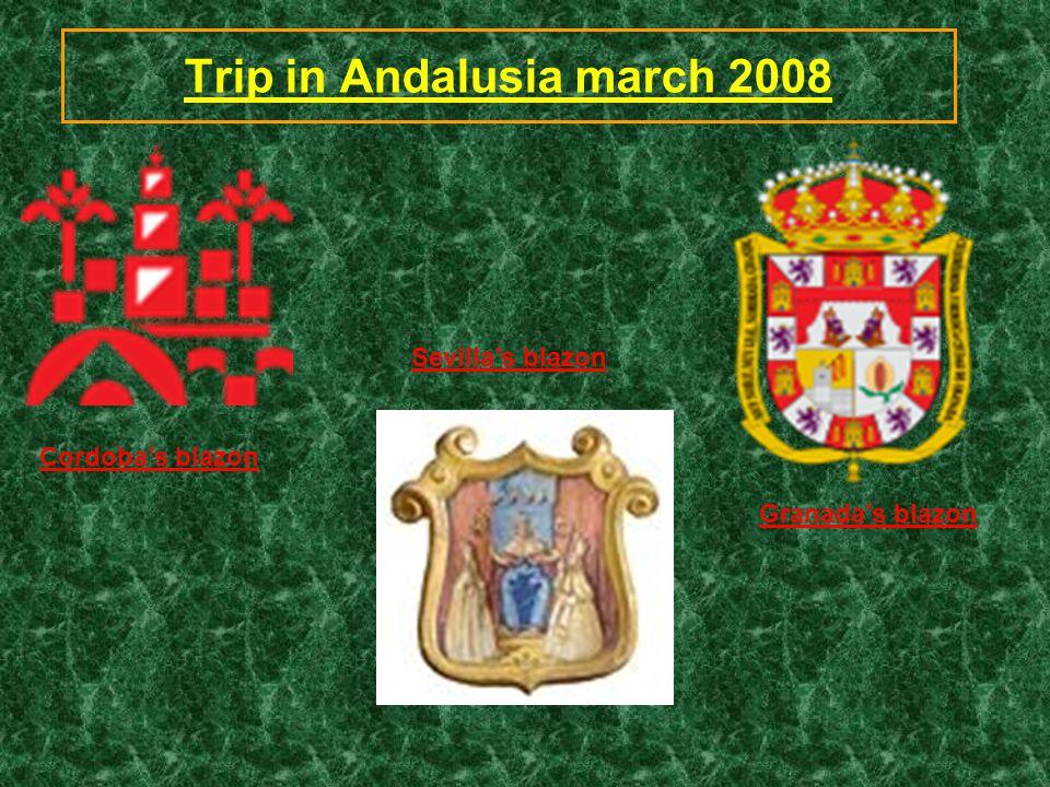 Trip in Andalusia march 2008 Sevilla's blazon Granada's blazon Cordoba's blazon