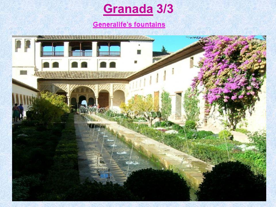 Granada 3/3 Generalife's fountains
