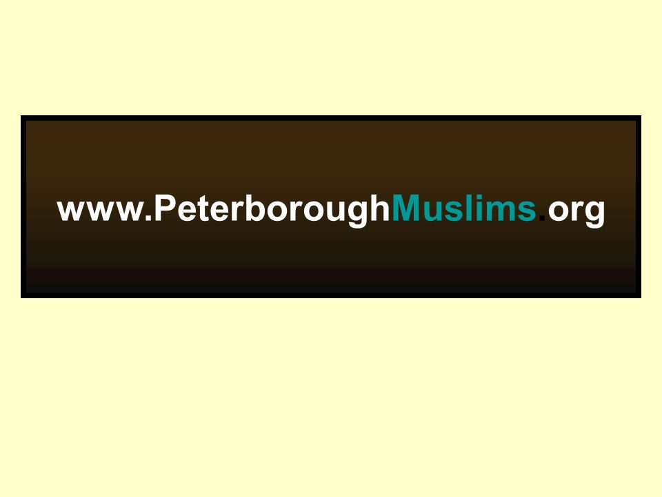 www.PeterboroughMuslims.org