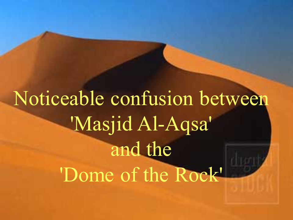 Whenever there is a mention to Al-Aqsa Mosque in the local and international media, the picture of the Dome of Rock appears instead.