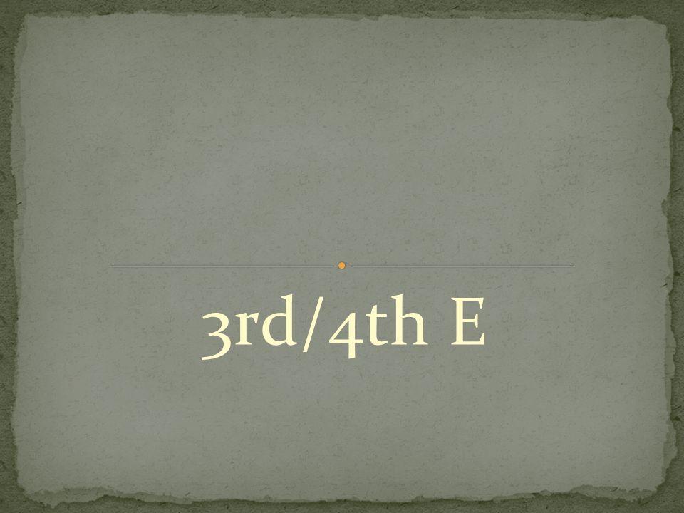 3rd/4th E