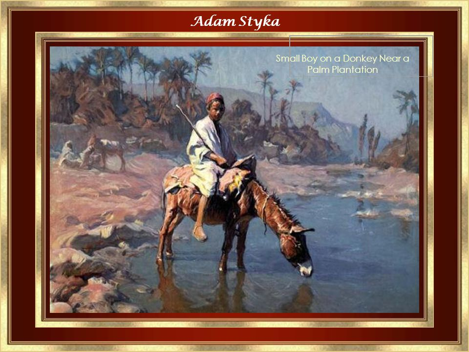 Adam Styka Donkeys at a Watering-Place