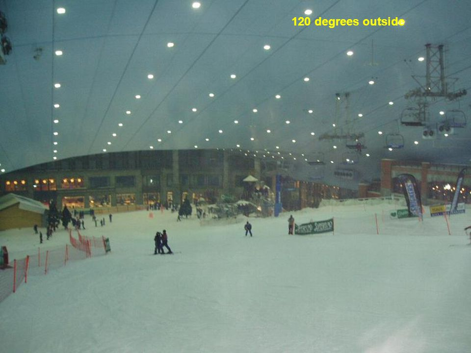 Snow Skiing inside a Shopping Center