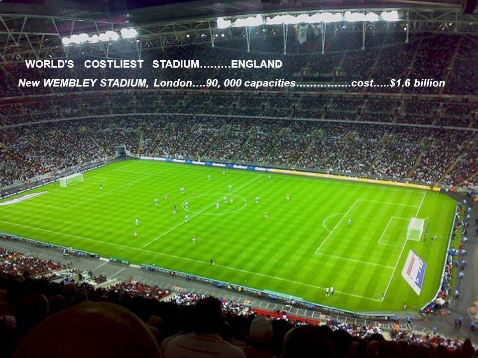 WORLD S BIGGEST STADIUM……….BRAZIL MARACANA STADIUM………… RIO D.J…………BRAZIL……………CAPACITY…199,000