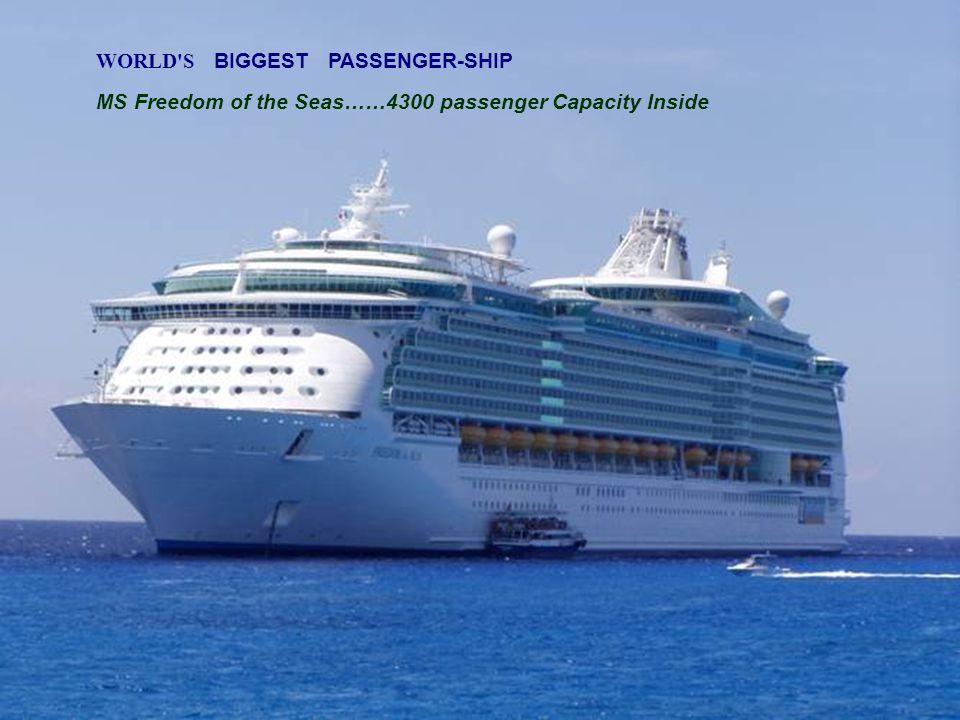 WORLD S BIGGEST PASSENGER-SHIP MS Freedom of the Seas……4300 passenger Capacity Inside