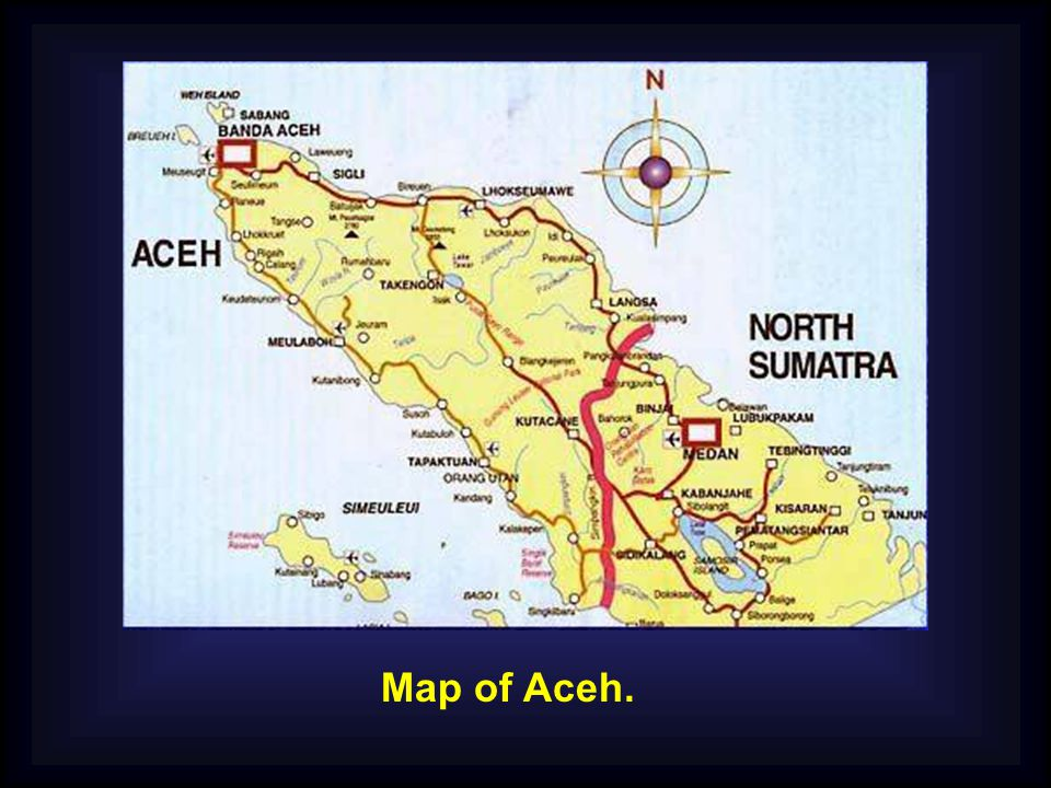 Map of Aceh.