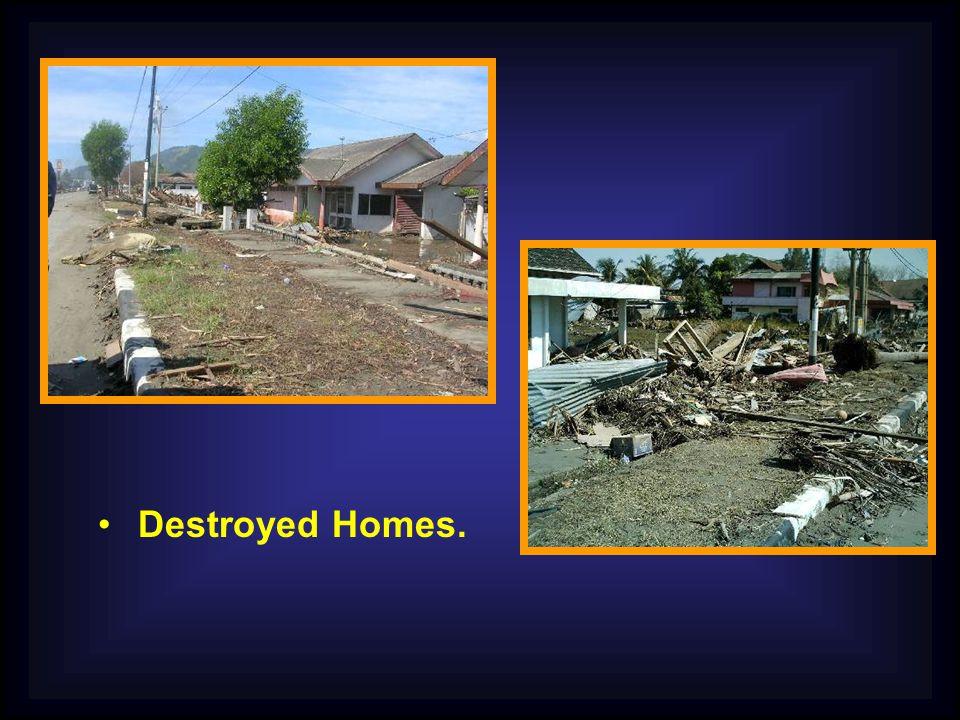 Destroyed Homes.