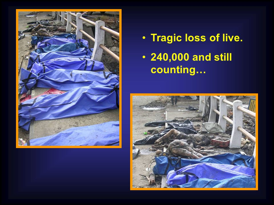 Tragic loss of live. 240,000 and still counting…