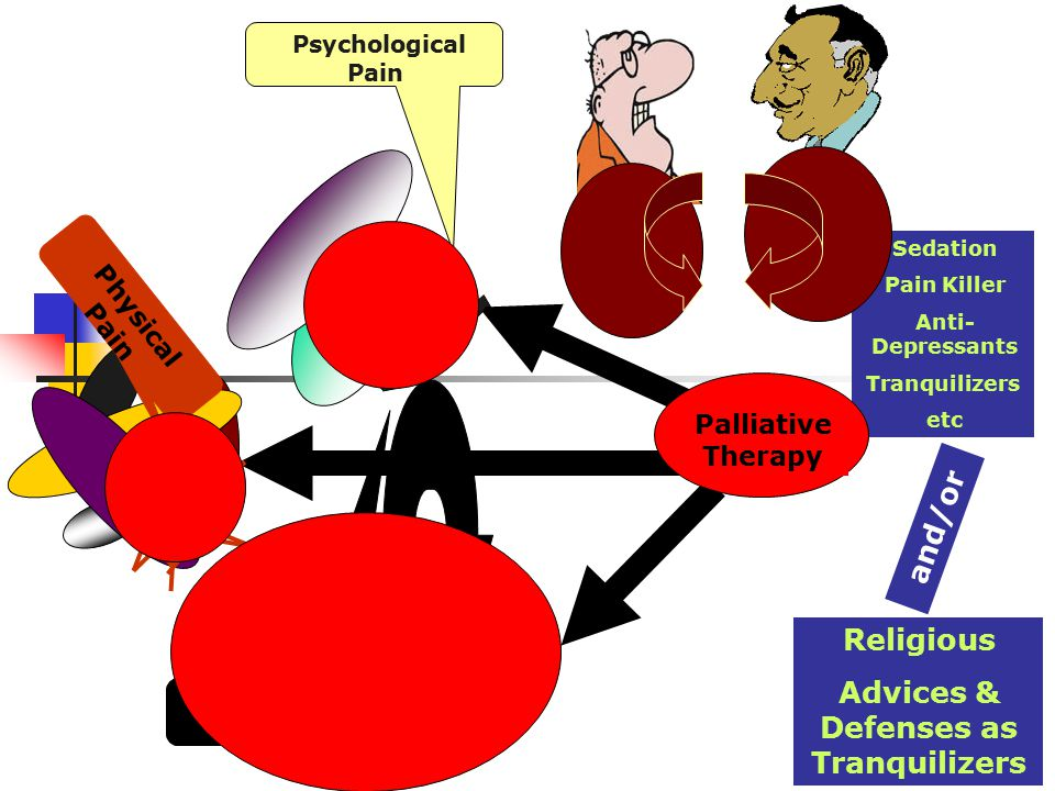 Sedation Pain Killer Anti- Depressants Tranquilizers etc Palliative Therapy Despair.