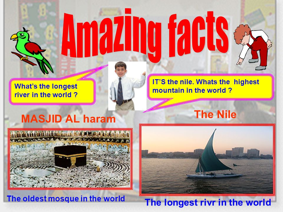 IT'S the nile. Whats the highest mountain in the world .
