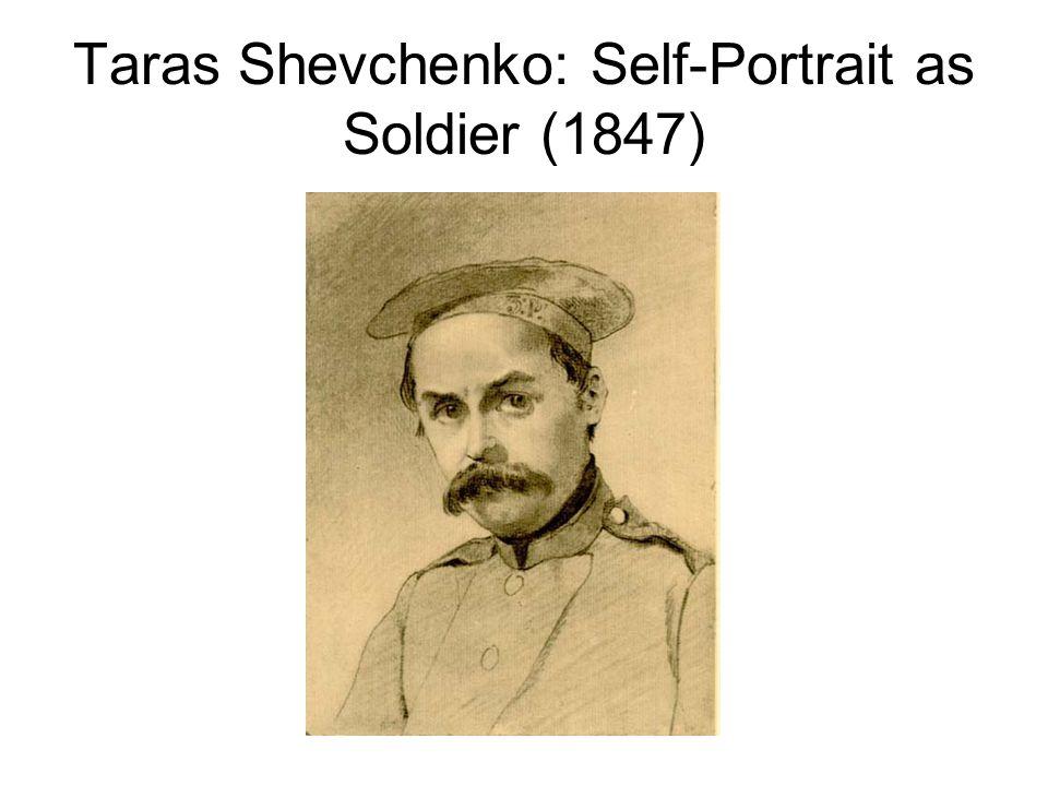 Taras Shevchenko: Self-Portrait as Soldier (1847)
