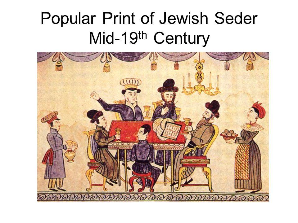 Popular Print of Jewish Seder Mid-19 th Century