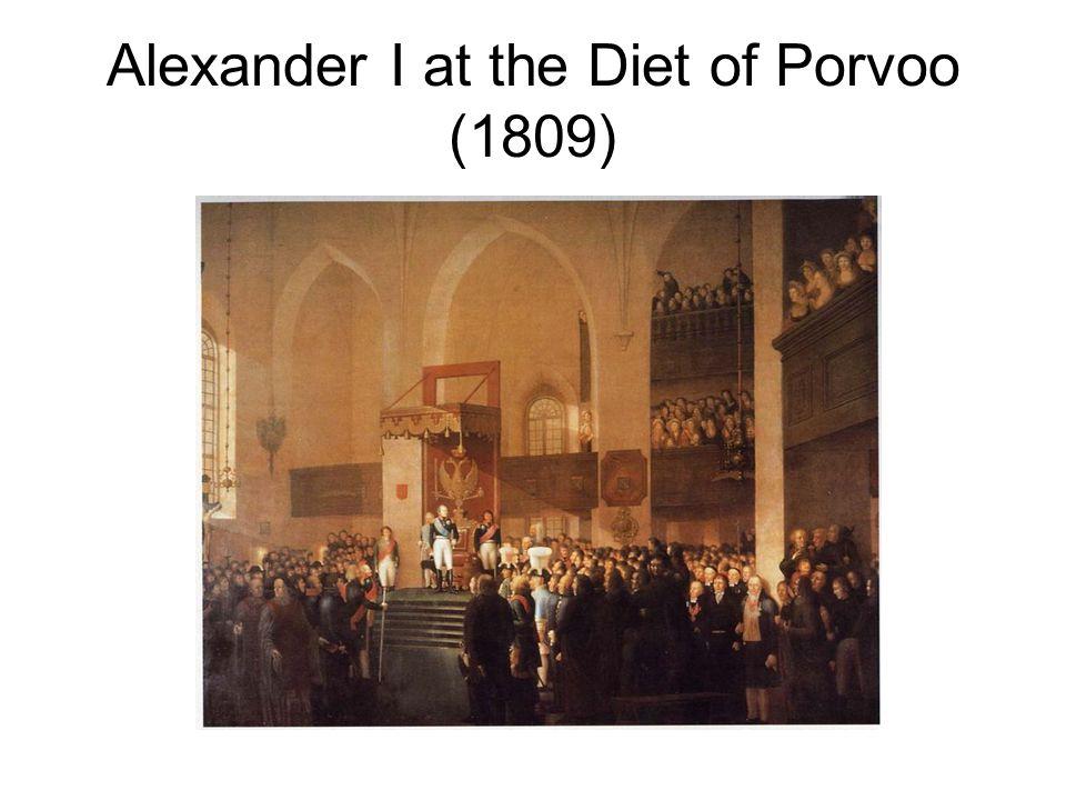 Alexander I at the Diet of Porvoo (1809)