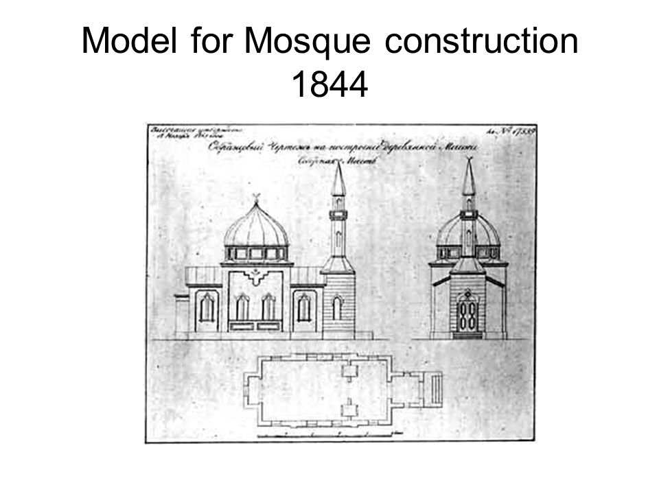 Model for Mosque construction 1844