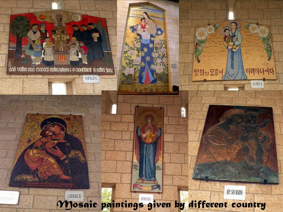 Mosaic paintings given by different country