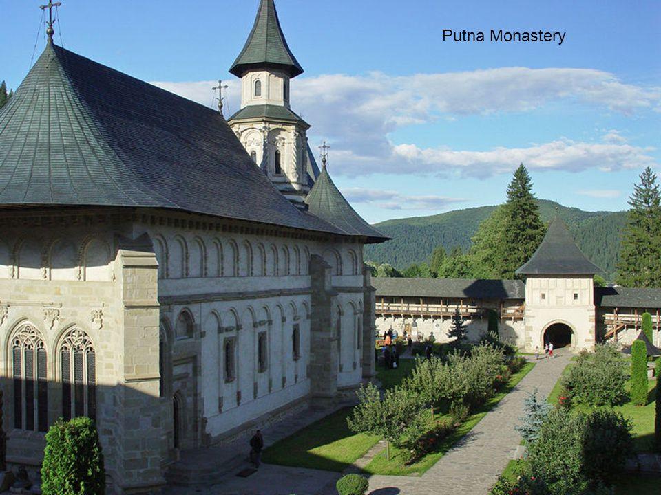 Romania, Voronet Monastery, old frescoes 1400 century