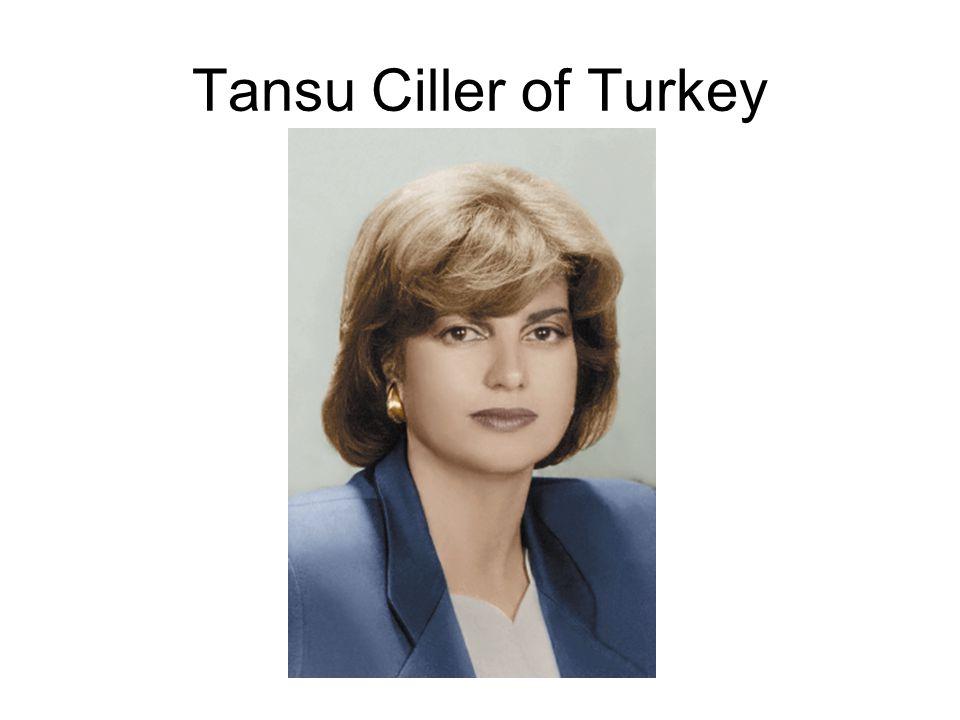 Tansu Ciller of Turkey