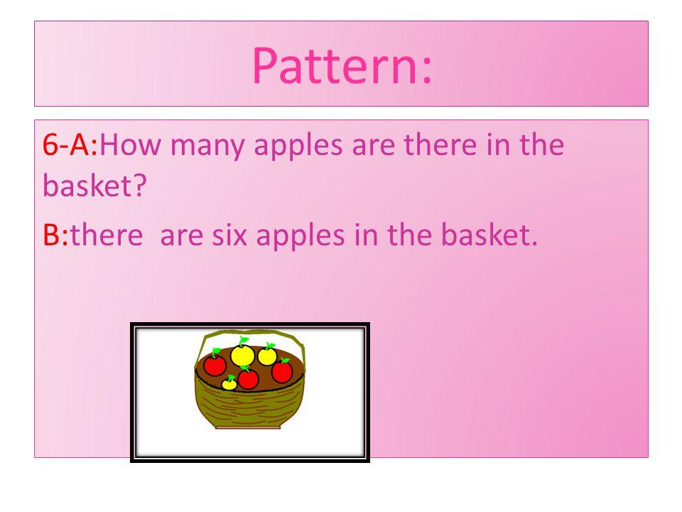 :Pattern 5-A: Where does she live? B: she lives on kamali street.