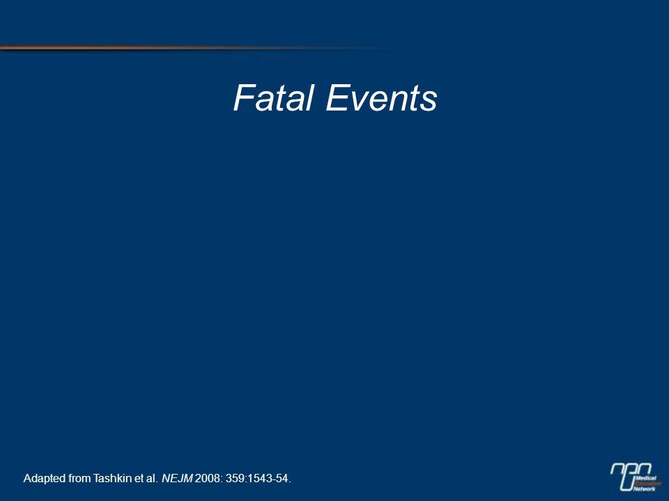 Fatal Events Adapted from Tashkin et al. NEJM 2008: 359:1543-54.