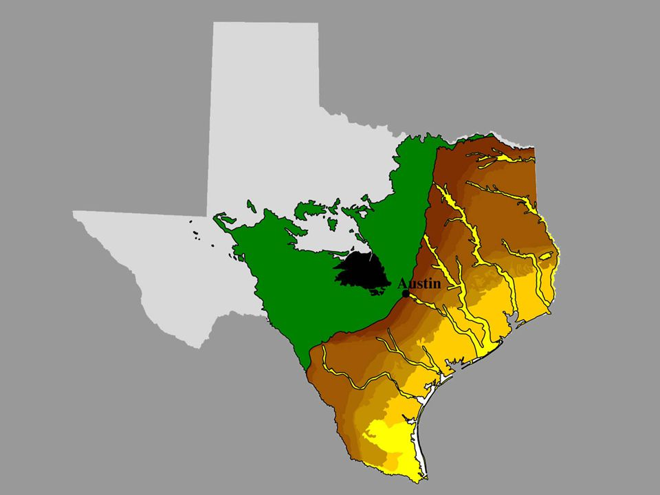 image 11 - Orientation map showing Austin astride (or near to) three sub-provinces