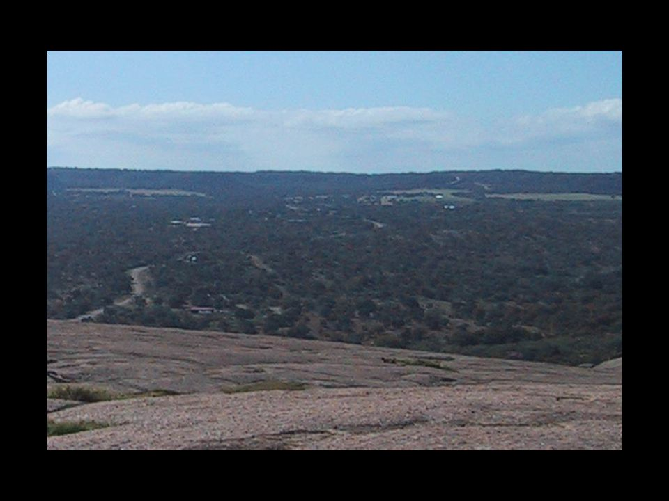image 25a - Photo of view to the south; Cretaceous escarpment; rate of weathering of granite
