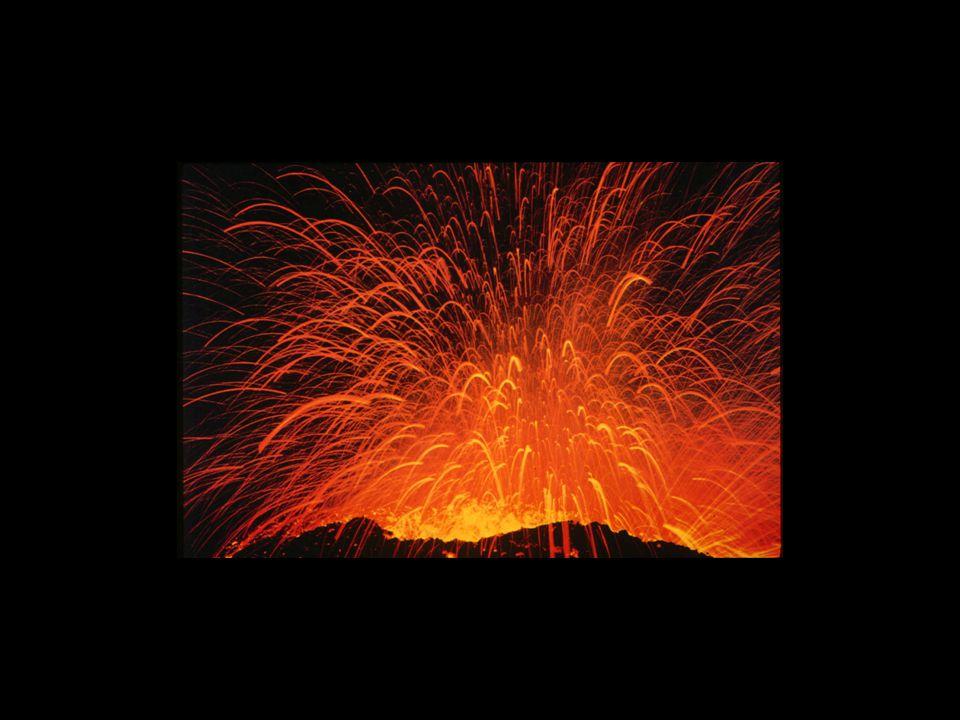 Image – Photograph of modern volcano erupting