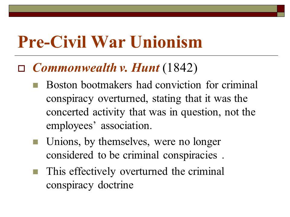Pre-Civil War Unionism  Commonwealth v.