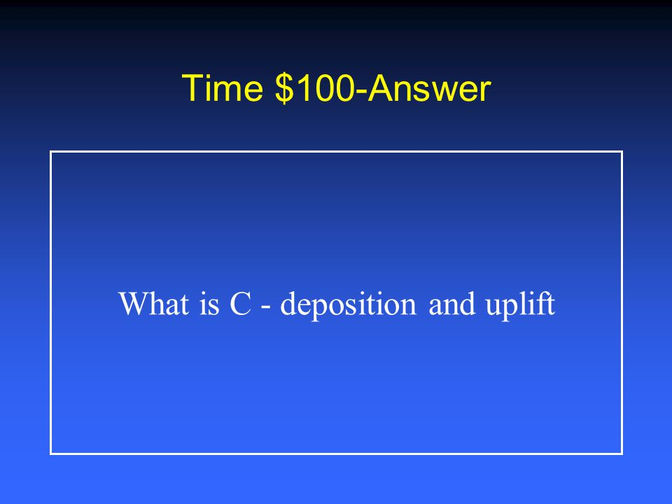 Time $500 The set of processes that allowed the Grand Canyon walls to appear as they do today are: A.