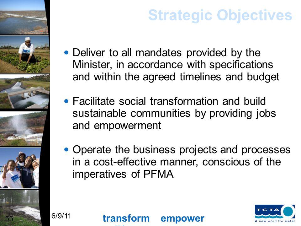 transform empower uplift 6/9/11 Strategic Objectives cont.
