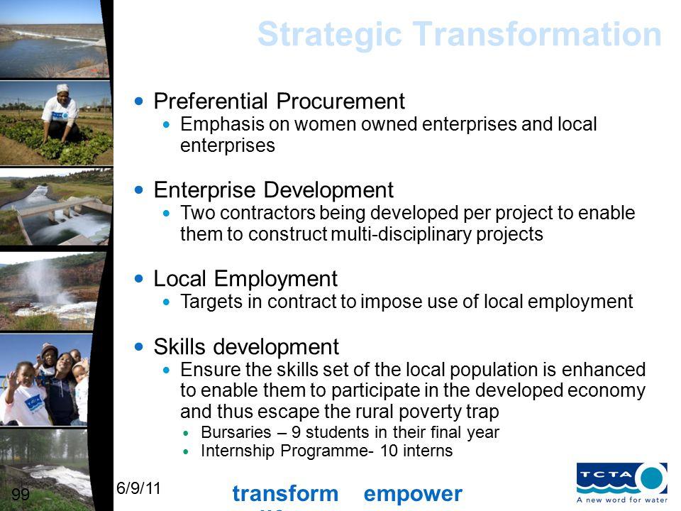 transform empower uplift 6/9/11 Olifants River Water Resources Development Project: Phase 2 De Hoop Dam