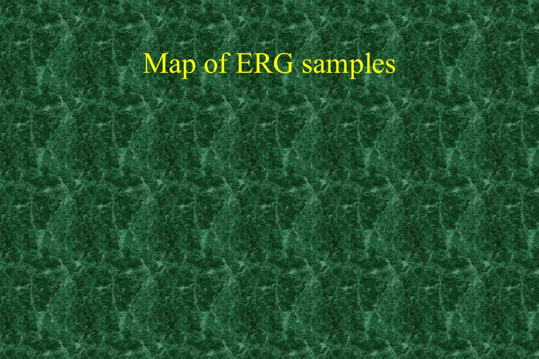 Map of ERG samples